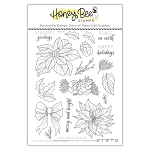 Pretty Poinsettias Stamp Set
