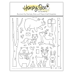 Woodland Winter Animals Stamp Set