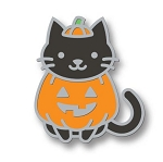 Cat-O'-Latern Enamel Pin