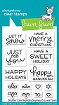 Shutter Card Holiday Saying Stamp Set