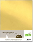 8.5 x 11 Metallic Cardstock - Gold