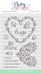 Lg. Floral Hearts Stamp Set