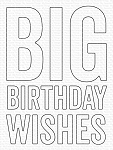 Big Birthday Wishes Die-namics
