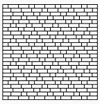 English Brick Wall Background Stamp
