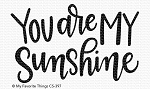 You Are My Sunshine Stamp Set
