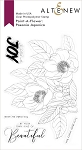 Paint-A-Flower: Paeonia Japonica Outline Stamp Set