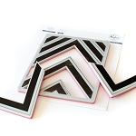 Nested Chevron Background Stamp