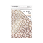 Foiled Kraft Cardstock 8.5 x 11 Rose Gold Posies