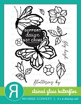 Stained Glass Butterflies Stamp Set