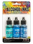 Alcohol Ink 3pk Teal/Blue Spectrum