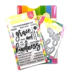 Oversized Grace and Kindness Stamp & Die