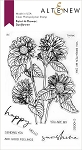 Paint-A-Flower: Sunflower Outline Stamp Set