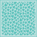 Whimsical Hearts Background Stencil