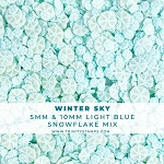 Winter Sky Light Blue Snowflake Sprinkles