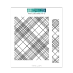 Woven Plaid Background Stamp