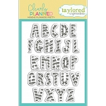 Clearly Planned Candy Cane Alpha Stamp Set