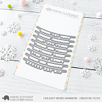 Holiday Word Banners Creative Cuts