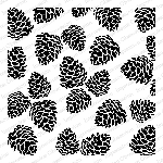 Pinecones Stamp
