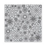 Blossoms for Coloring Background Stamp