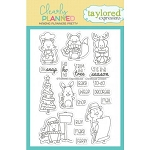 Clearly Planned Christmas Critters Stamp Set
