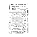 Irreverent Birthday Messages Stamp Set