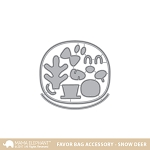 Favor Bag Accessory Snow Deer Dies