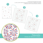 Fireworks Stamp & Stencil Combo