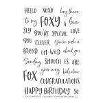Foxy Sentiments Stamp Set