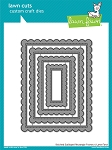 Stitched Scalloped Rectangle Frames Lawn Cuts