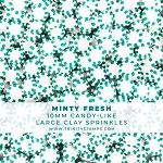 Minty Fresh -10Mm Candy-Like Clay Sprinkles Mix