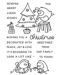 Christmas Decorating Penguins Stamp Set
