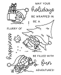 Happy Holidays Penguins Stamp Set