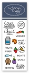 Planner Eat Healthy Stamp Set