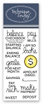 Planner Pay Bills Stamp Set