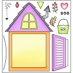 Dormer Window Stamp Set