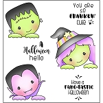 Peeking Ghouls Stamp Set