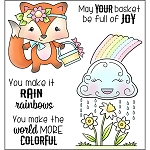 Raining Rainbows Stamp Set