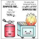 Dumpster Fire Stamp Set
