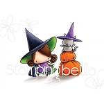 Pumpkin With Witchy On Top Stamp Set
