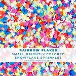 Rainbow Flakes - Clay Snowflake Mix