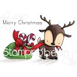 Reindeer With Gift Stamp Set