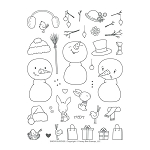 Snow Buddies Stamp Set