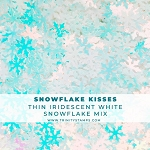 Snowflake Kisses - Iridescent White Snowflake Confetti Mix
