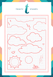 Cloudy Day A2 Card Scene Builder Dies