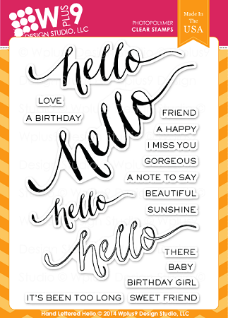 Hand Lettered Hello Stamp Set