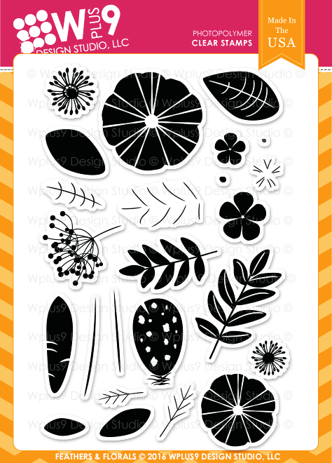 Feathers & Florals Stamp Set