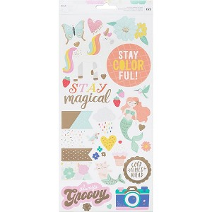 Stay Colorful Gold Foil Stickers