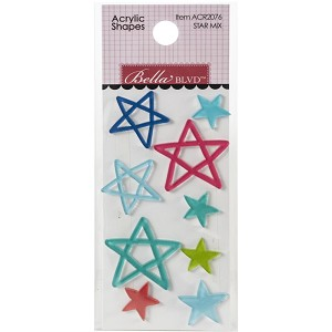 Splash Zone Star Mix Acrylic Shapes