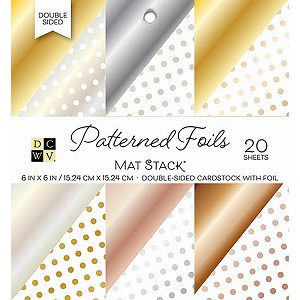 Patterned Foil 6x6 Cardstock Stack