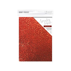 Embossed Cotton A4 Paper Ruby Gemstone